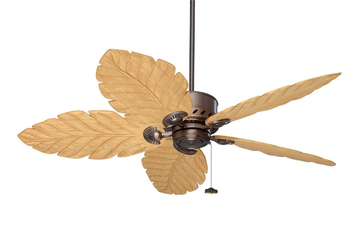 Well Known Wicker Outdoor Ceiling Fans With Lights Throughout Fansunlimited – The Emerson Maui Bay Series (View 6 of 20)