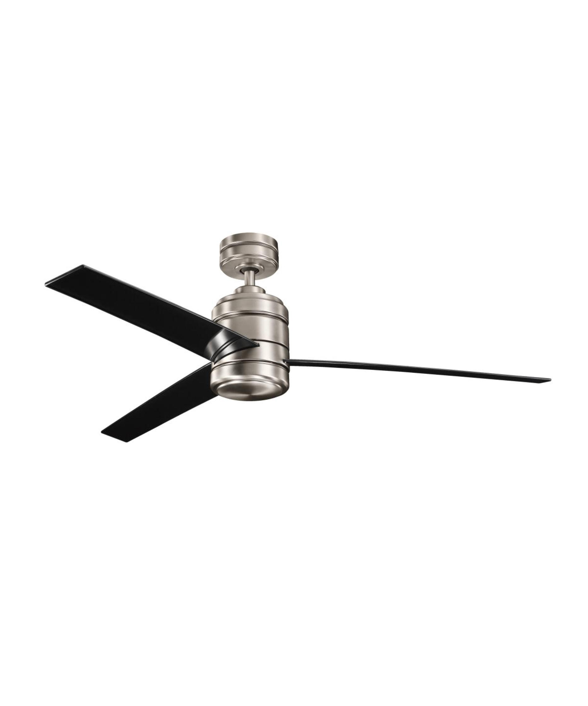 Well Liked Kichler Outdoor Ceiling Fans With Lights Within Kichler 300146 Arkwright 58 Inch 3 Blade Ceiling Fan (View 20 of 20)