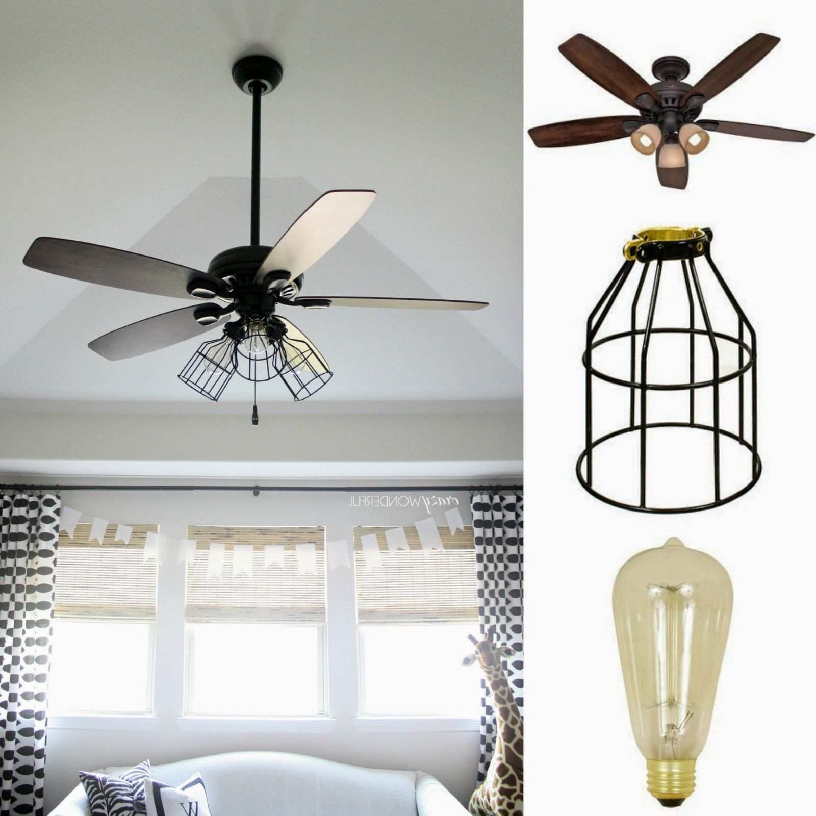 Well Liked Outdoor Ceiling Fans With Mason Jar Lights Within Ceiling Fan With Mason Jar Lights Lovely Dark Aged Bronze Outdoor (View 19 of 20)