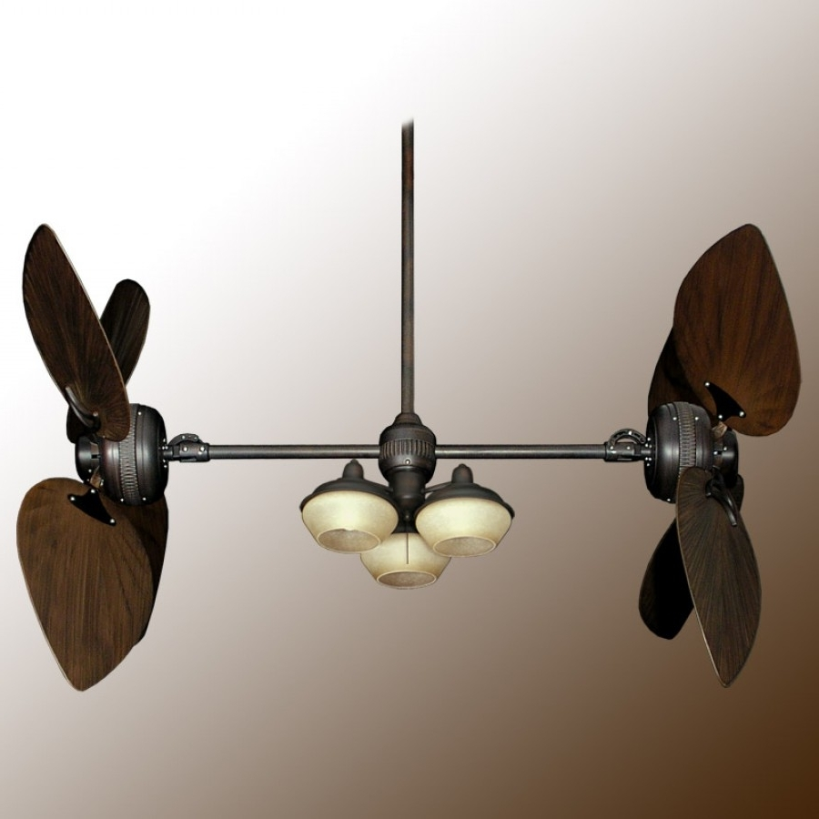 Well Liked Twin Star Iii Double Ceiling Fan – Oiled Bronze With 13 Blade Options With Regard To Dual Outdoor Ceiling Fans With Lights (View 20 of 20)