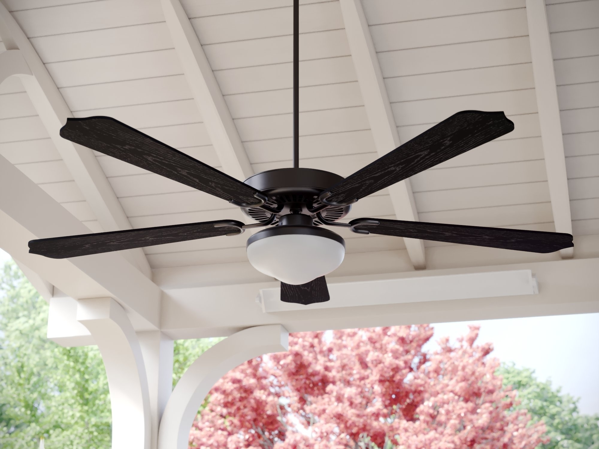 """Well Liked Wayfair Outdoor Ceiling Fans With Lights Throughout Fleur De Lis Living 52"""" Beaton 5 Blade Outdoor Ceiling Fan & Reviews (View 19 of 20)"""