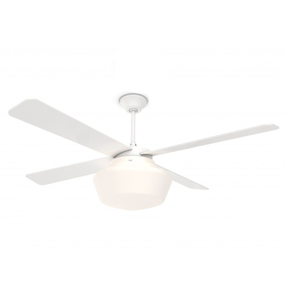 Well Liked White Outdoor Ceiling Fans With Lights Intended For Amazing Schoolhouse Ceiling Fan Gloss White 52 Eid Fans Outdoor (View 12 of 20)