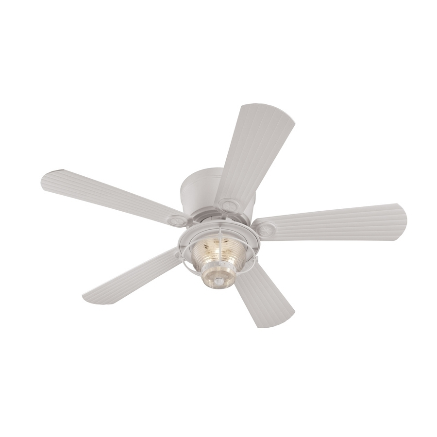 White Outdoor Ceiling Fans In Popular 20 Best Collection Of Outdoor Ceiling Fans With Lights And Remote (View 14 of 20)