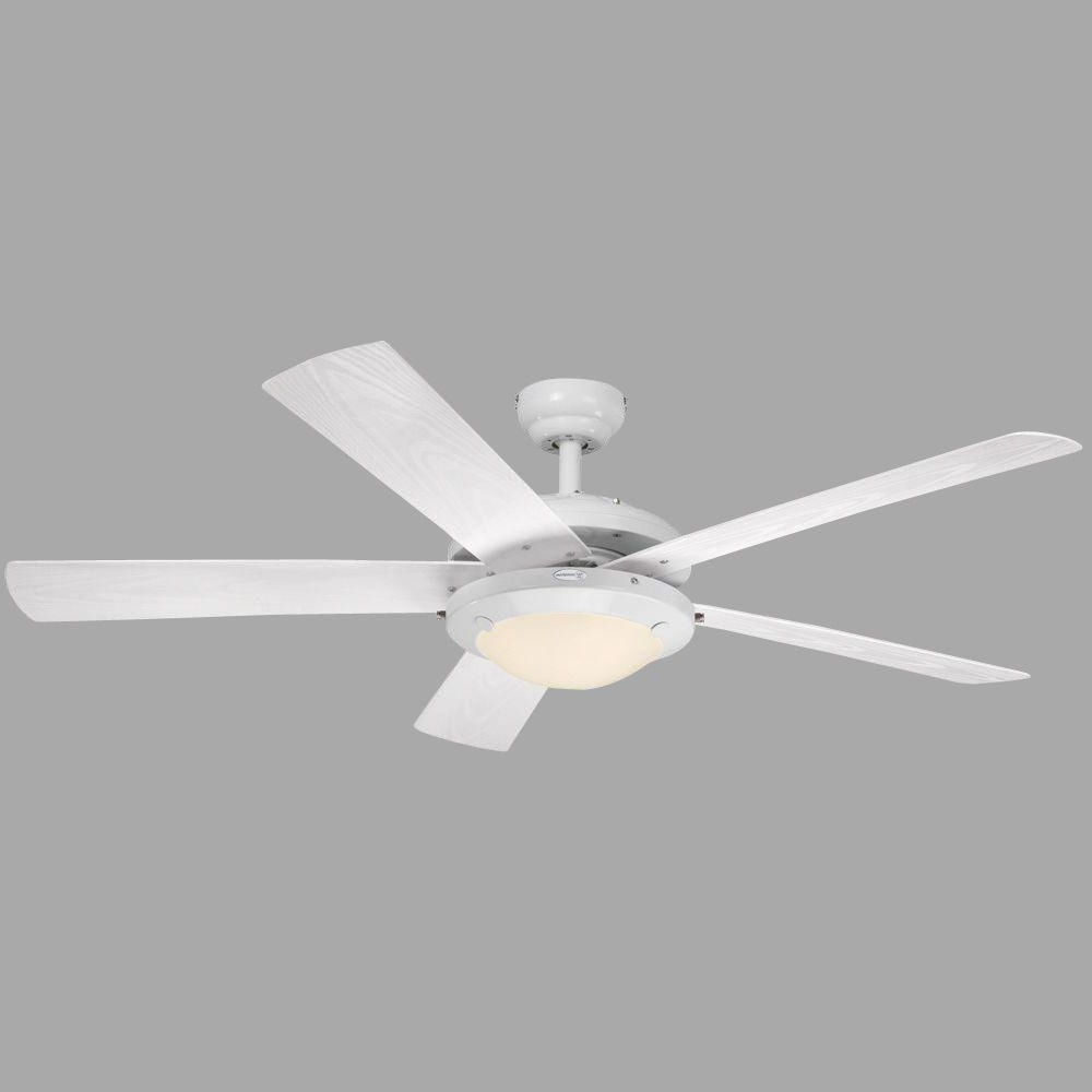 White Outdoor Ceiling Fans Pertaining To Widely Used Westinghouse Comet 52 In (View 3 of 20)