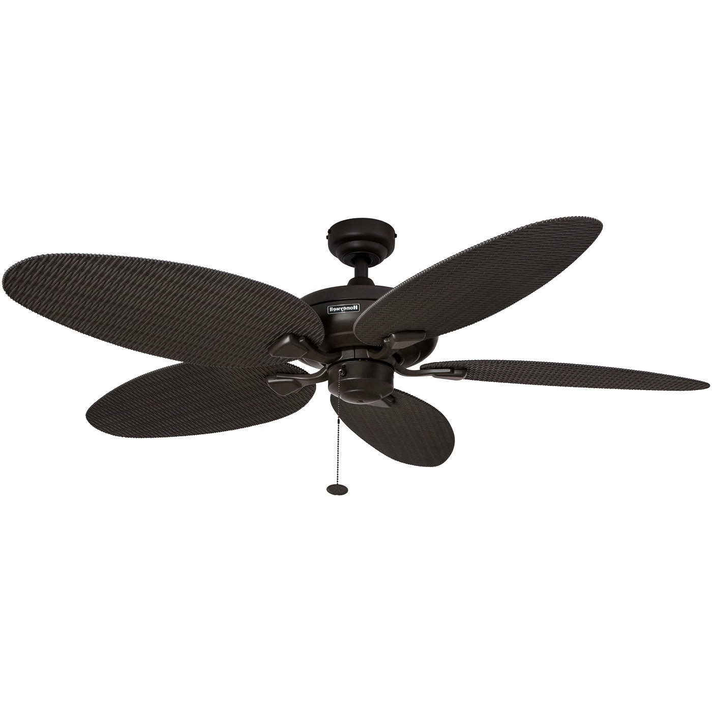 """Wicker Outdoor Ceiling Fans Inside Most Current Shop 52"""" Honeywell Duval Bronze Indoor/outdoor Ceiling Fan With (View 15 of 20)"""