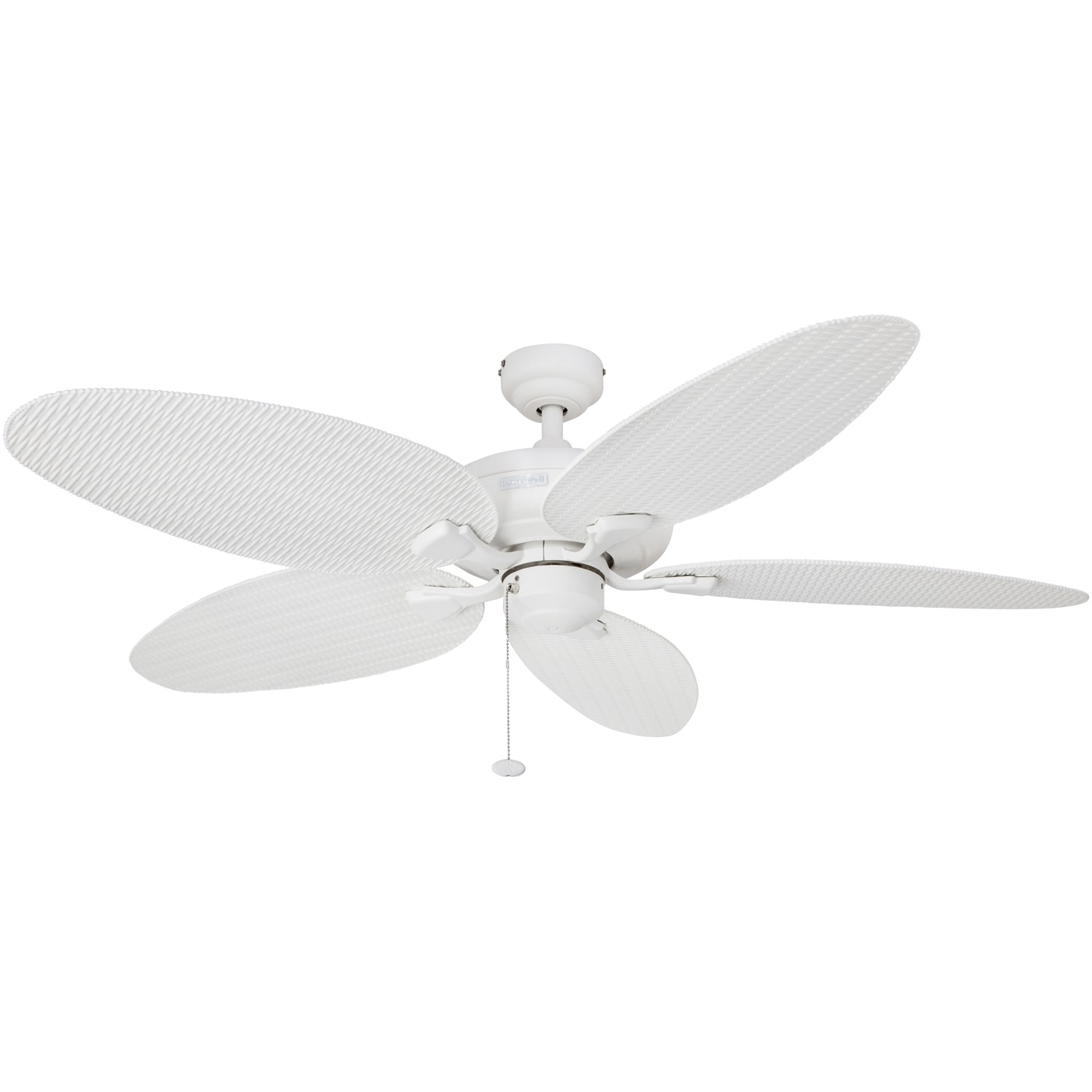 """Wicker Outdoor Ceiling Fans Inside Well Known Shop 52"""" Honeywell Duval White Indoor/outdoor Ceiling Fan With (View 16 of 20)"""
