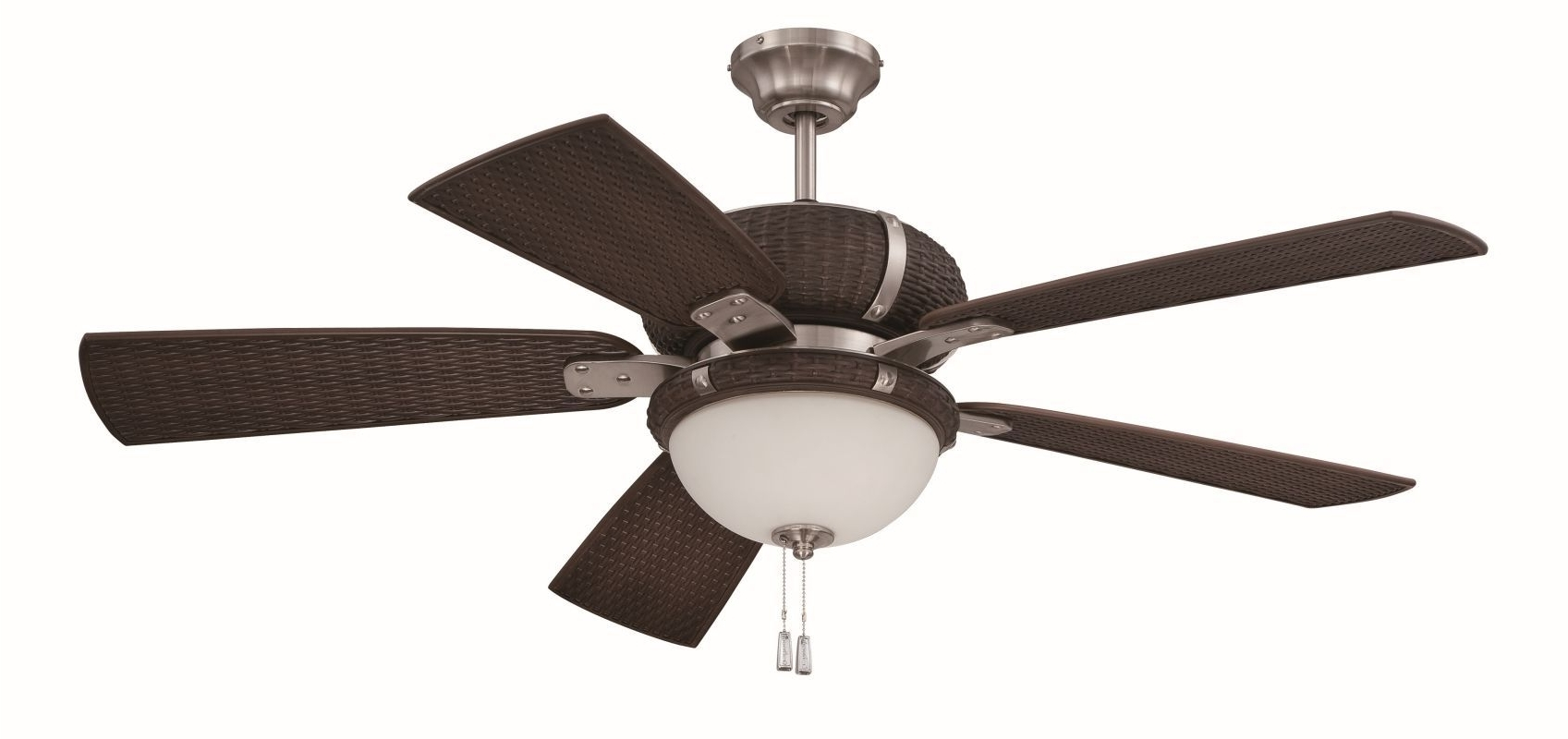 "Wicker Outdoor Ceiling Fans With Lights Regarding Most Popular Craftmade Lap545 La Playa 54"" 5 Blade Outdoor Ceiling Fan – Blades (View 17 of 20)"