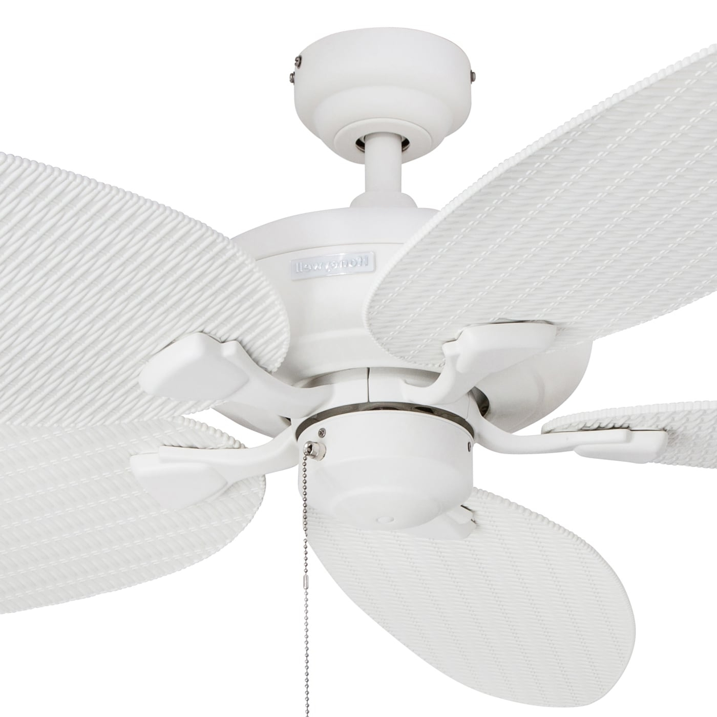 "Wicker Outdoor Ceiling Fans With Lights Throughout Most Current Shop 52"" Honeywell Duval White Indoor/outdoor Ceiling Fan With (View 19 of 20)"
