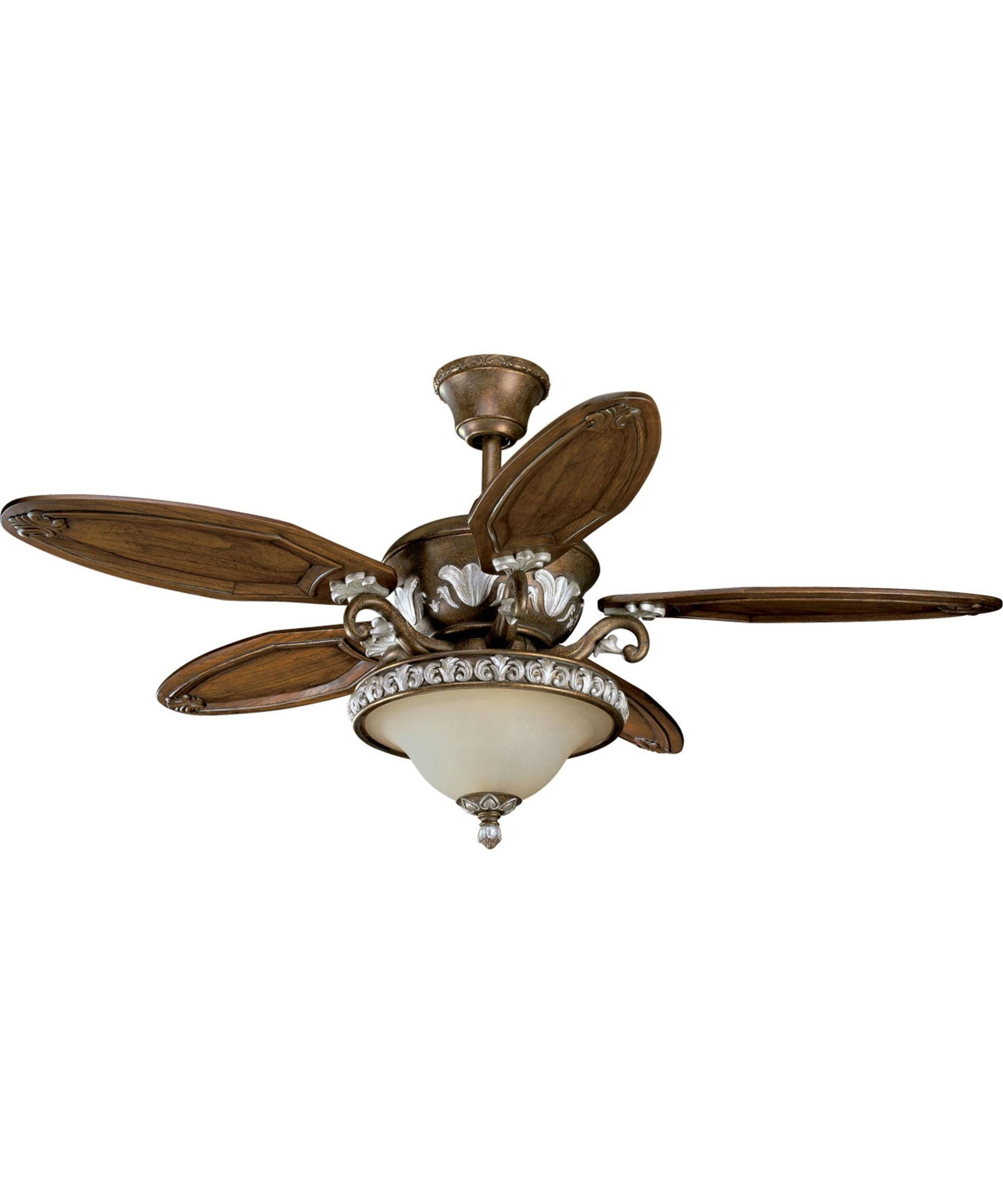 Widely Used Amazon Outdoor Ceiling Fans With Lights Within Thomasville Lighting P2505 Carmel 54 Inch 5 Blade Ceiling Fan (View 20 of 20)