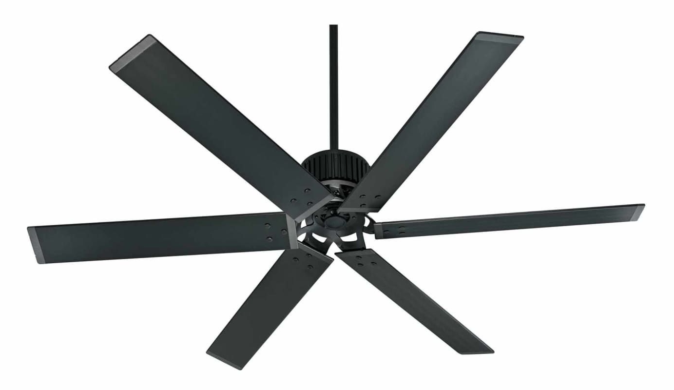 "Widely Used Hunter Industrial 72 72"" Energy Star Rated Indoor / Outdoor Ceiling Within Black Outdoor Ceiling Fans (View 12 of 20)"