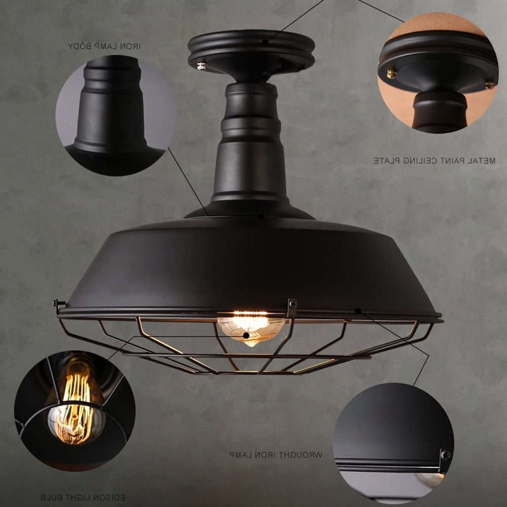Widely Used Industrial Outdoor Ceiling Fans With Light With Regard To Ceiling Fan: Industrial Style Classic Black Fan Shaped Ceiling (View 16 of 20)