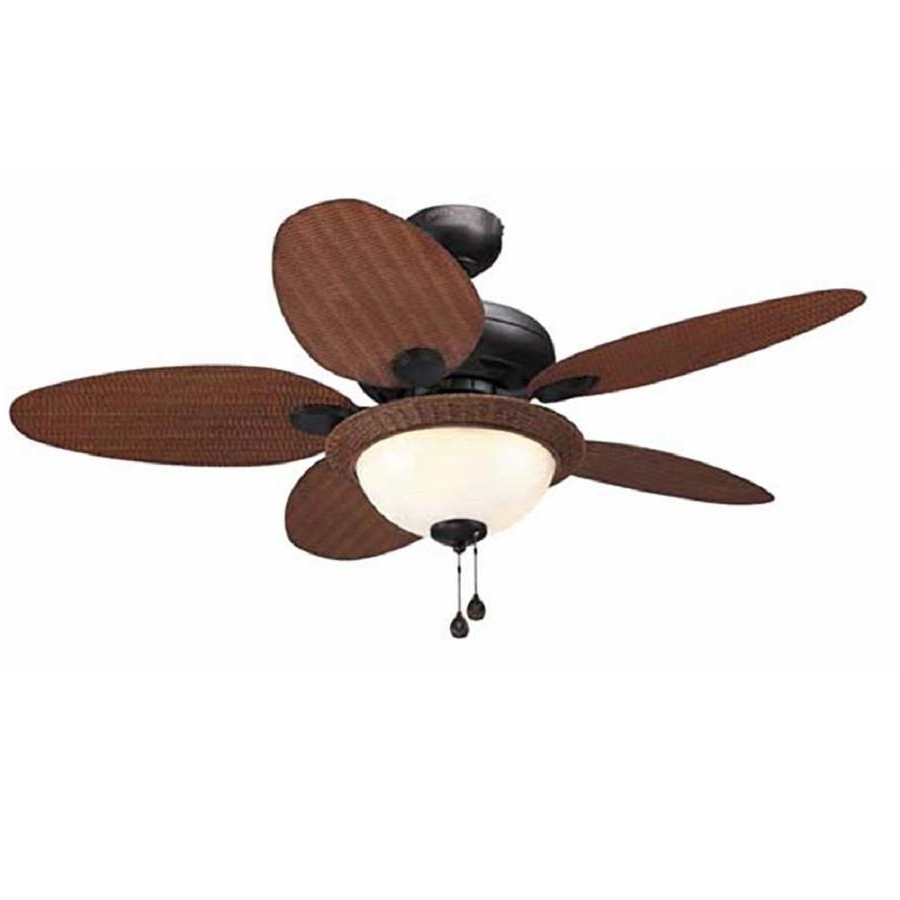 Widely Used Shop Litex Tilghman 44 In Bronze Indoor/outdoor Ceiling Fan With Throughout Brown Outdoor Ceiling Fan With Light (View 12 of 20)