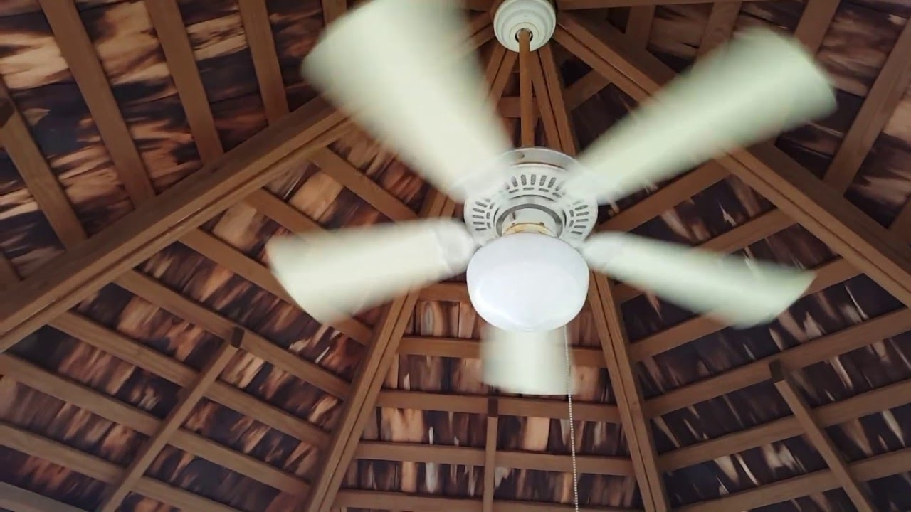 "Widely Used Smaller (42"") Hampton Bay Gazebo Ceiling Fan At My Neighbor's Patio Throughout Outdoor Ceiling Fans For Gazebo (View 20 of 20)"