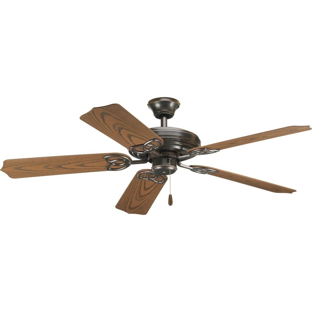 Widely Used Vintage Outdoor Ceiling Fans Inside Progress Lighting Airpro 52 In (View 20 of 20)