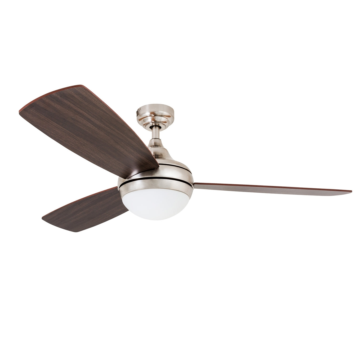 """Wrought Studio 52"""" Alexa 3 Blade Led Ceiling Fan With Remote Control With Regard To Most Popular Outdoor Ceiling Fans Under $ (View 17 of 20)"""