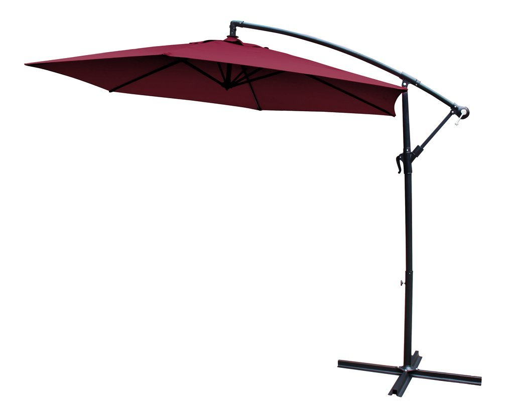 10' Cantilever Umbrella With Regard To Most Up To Date Iyanna Cantilever Umbrellas (View 10 of 20)