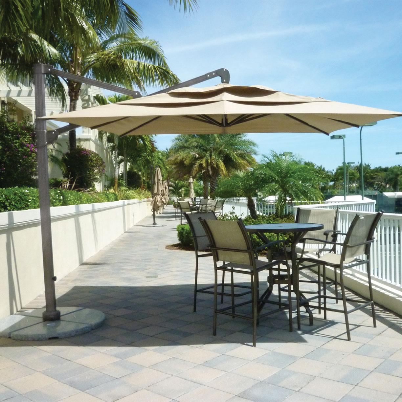 10' Square Cantilever Patio Umbrella With Granite Base (View 14 of 20)