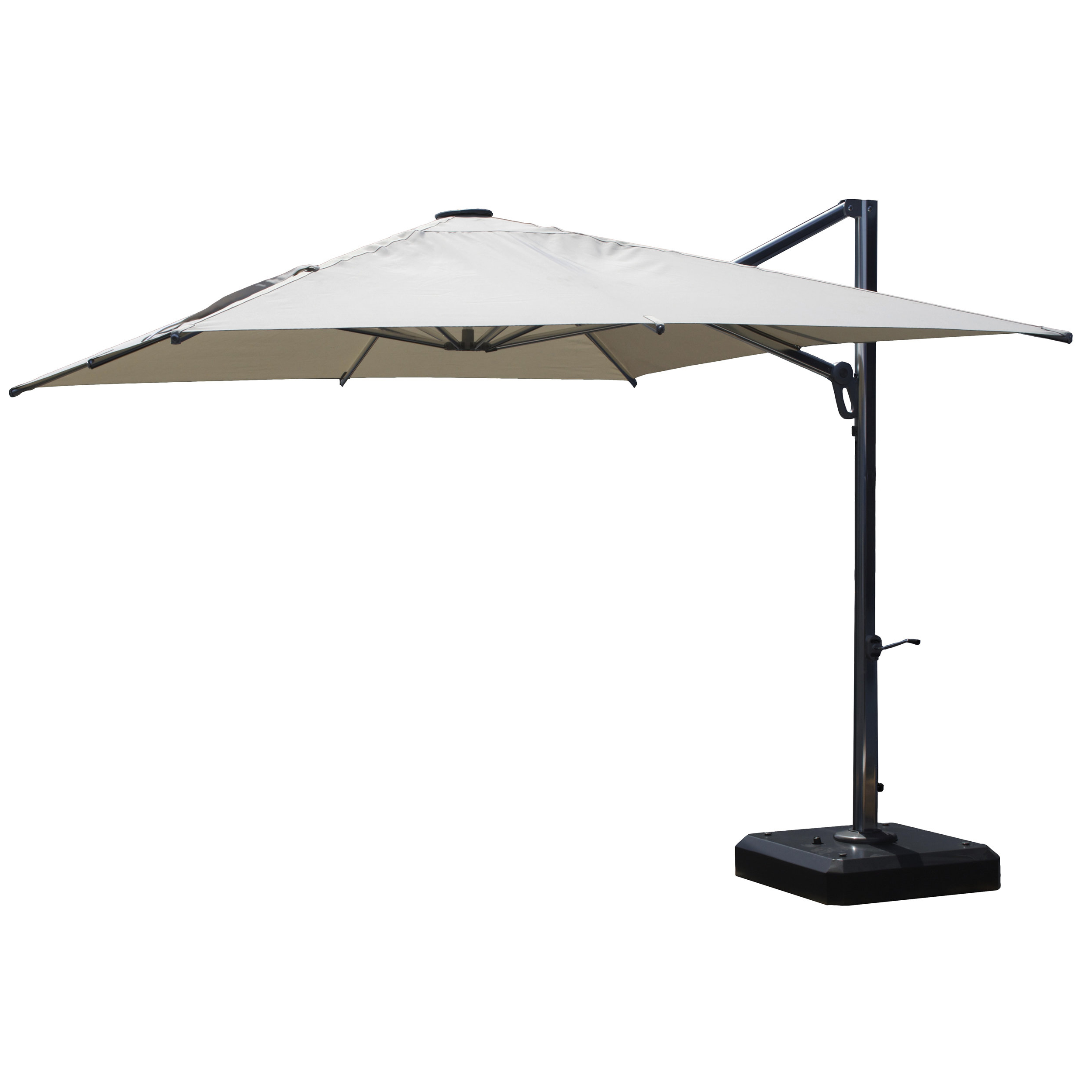 10' Square Cantilever Umbrella In Newest Emely Cantilever Sunbrella Umbrellas (View 1 of 20)