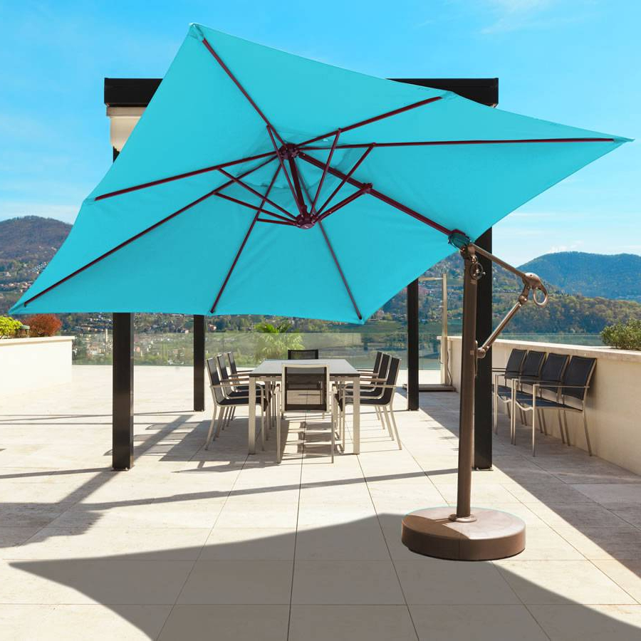 10Ft X 10Ft Easy Tilt And Lift Cantilever Umbrella – 897 Pertaining To 2020 Cantilever Umbrellas (View 1 of 20)