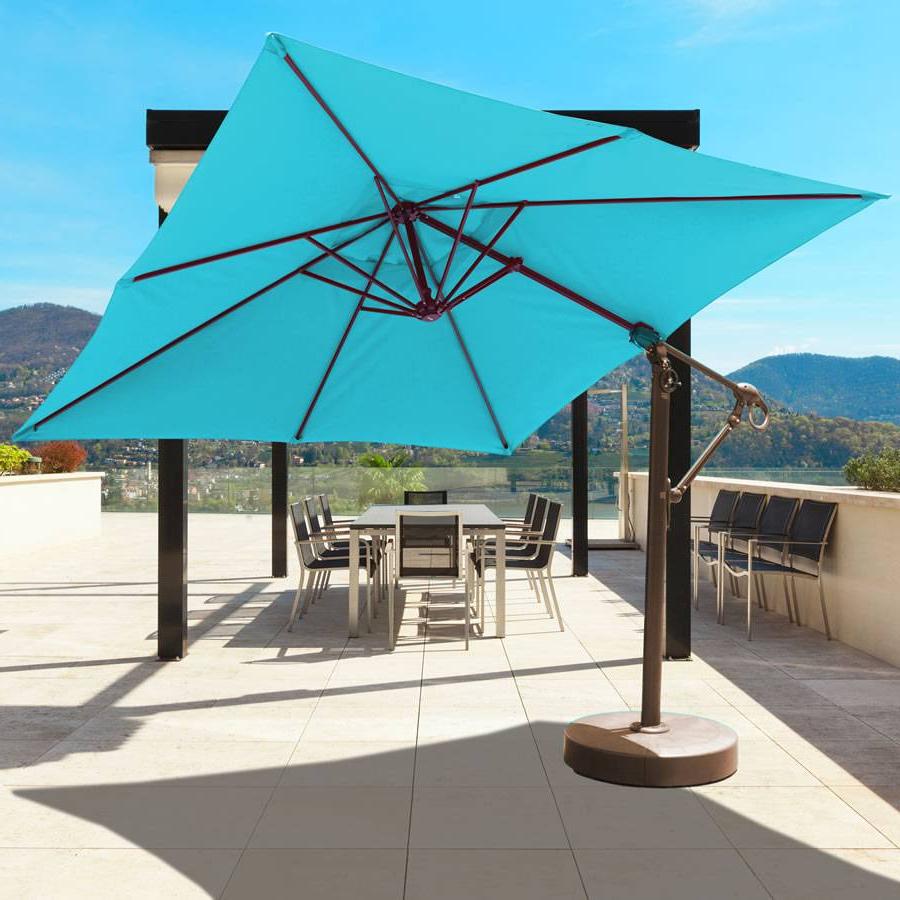 10ft X 10ft Easy Tilt And Lift Cantilever Umbrella – 897 Regarding Most Current Cantilever Umbrellas (View 20 of 20)