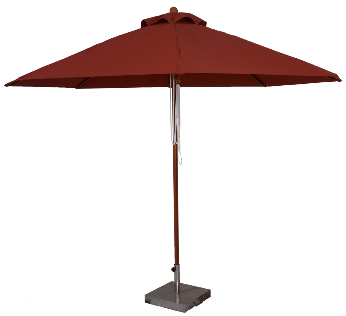 11 Ft. Wood Market Umbrella Pertaining To Well Known Solid Market Umbrellas (Gallery 6 of 20)