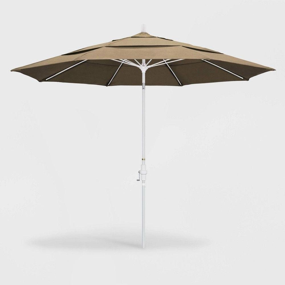 11' Sun Master Patio Umbrella Collar Tilt Crank Lift – Sunbrella With Newest Keegan Market Umbrellas (View 7 of 20)