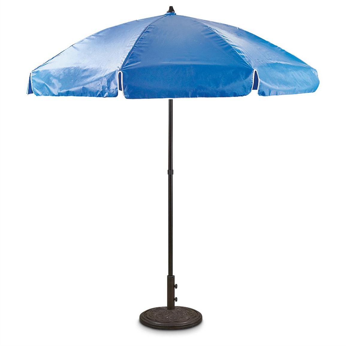 "2019 7'6"" Drape Vinyl Patio Umbrella – 635354, Patio Umbrellas At With Regard To Drape Umbrellas (View 2 of 20)"