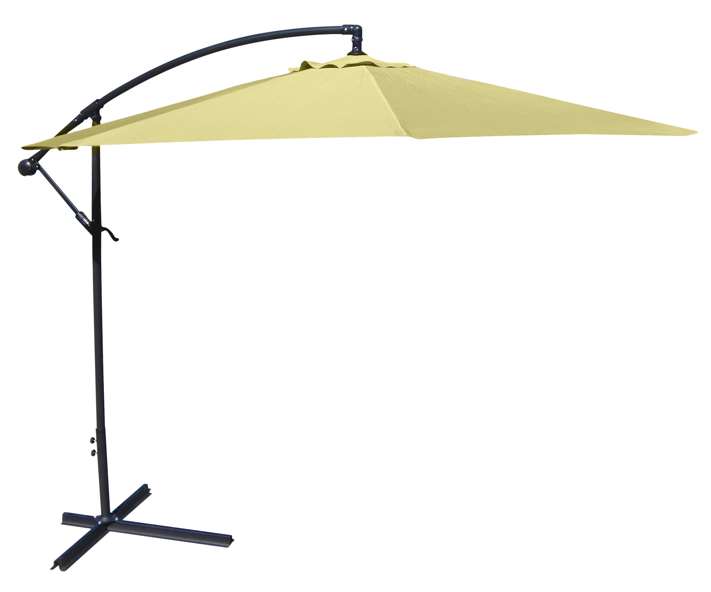 2019 Brayden Studio Trotman 10' Cantilever Umbrella Regarding Trotman Cantilever Umbrellas (Gallery 4 of 20)