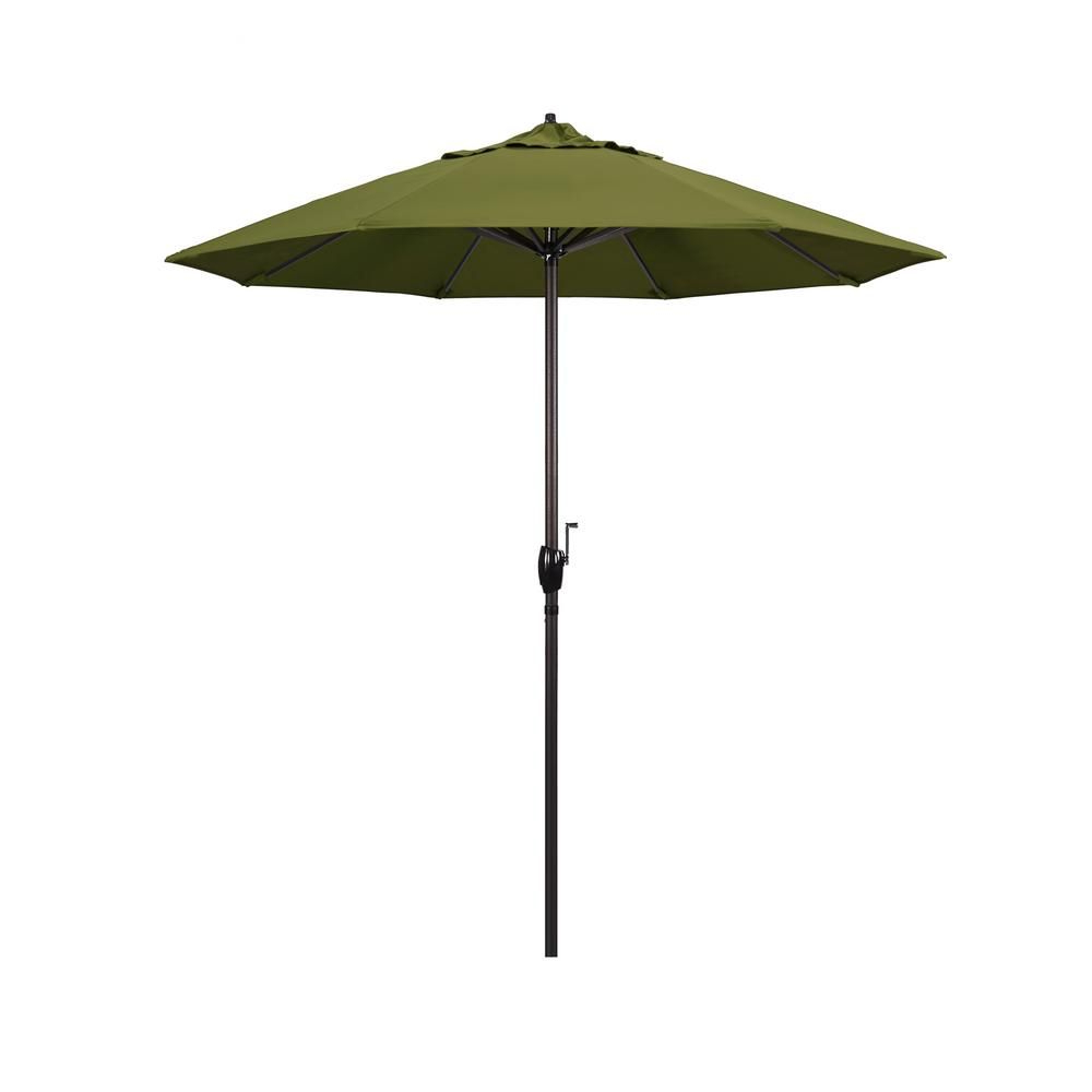 2019 California Umbrella 7.5 Ft. Bronze Aluminum Market Auto Tilt Crank Inside Lagasse Market Umbrellas (Gallery 7 of 20)