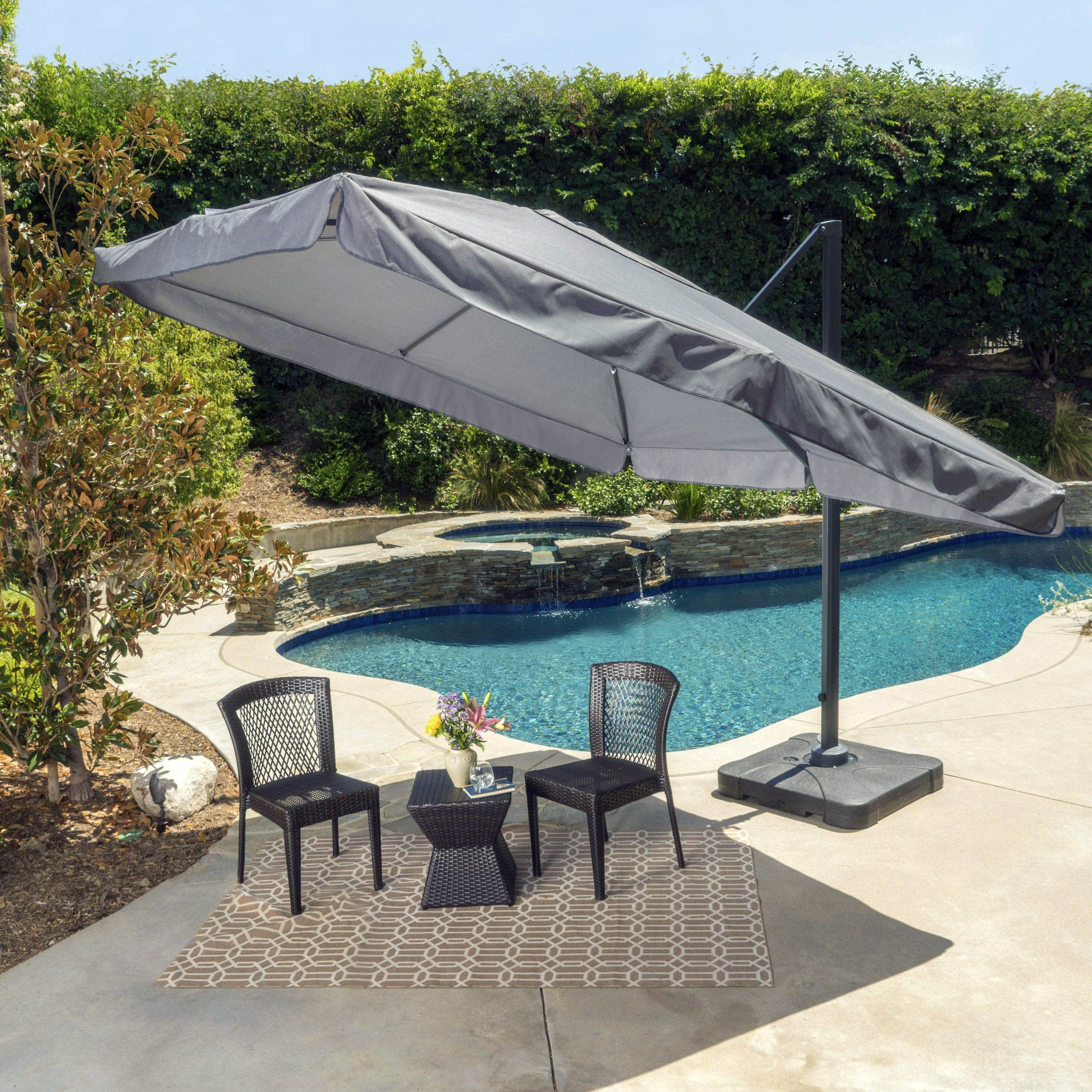 2019 Fazeley  Rectangular Cantilever Umbrellas With 20 Different Ways To Style Your Backyard With An Outdoor Canopy (View 6 of 20)