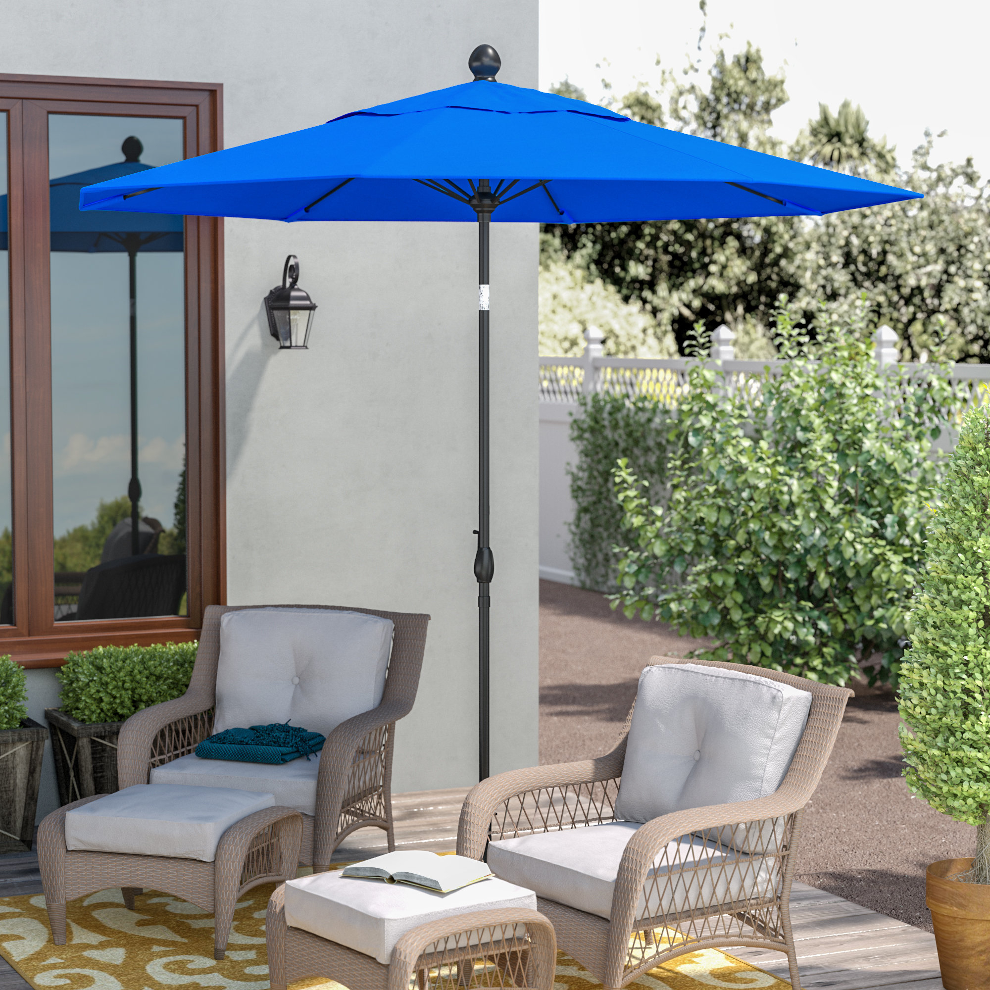 2019 Gries Rectangular Market Umbrellas For 9' Market Umbrella (View 15 of 20)