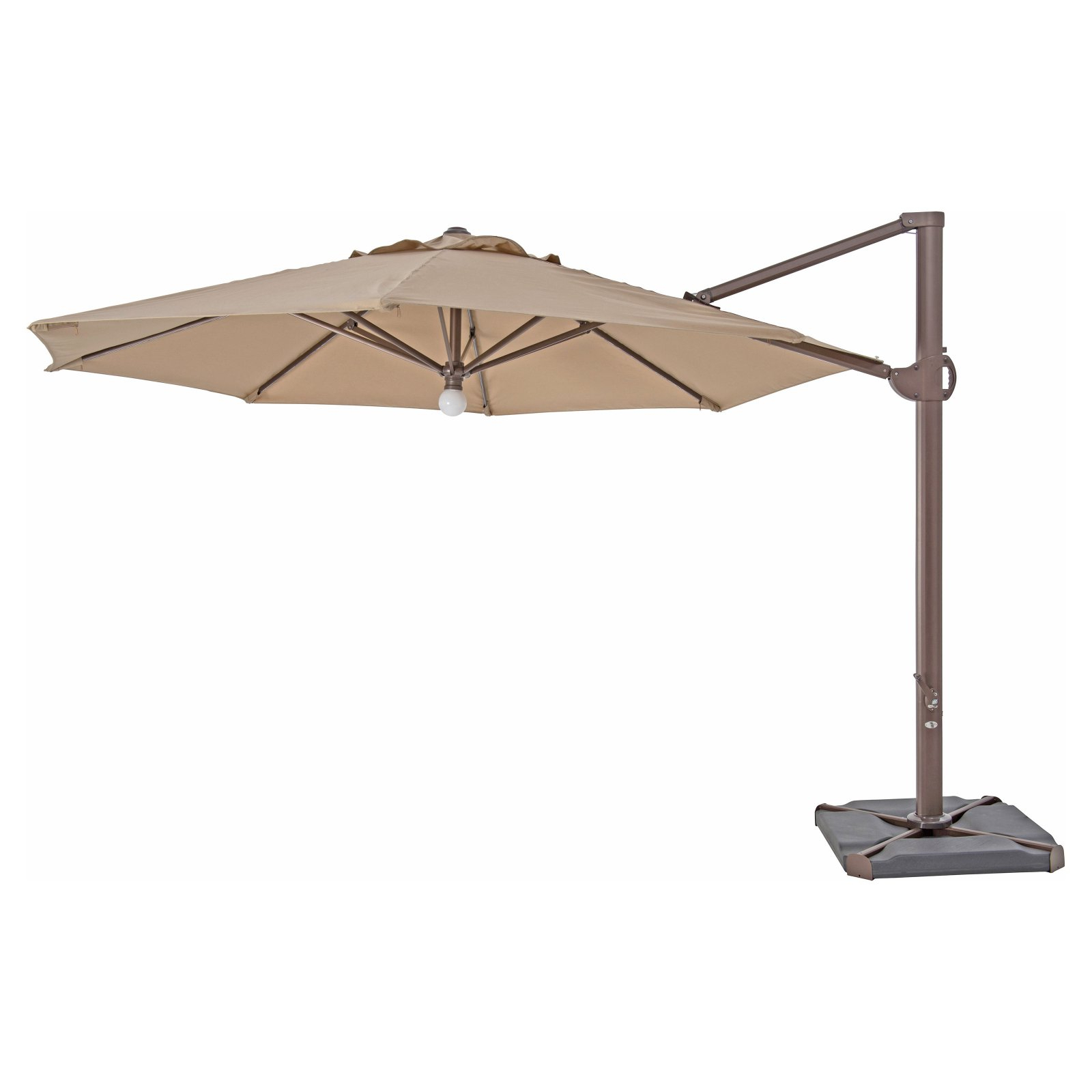 2019 Jaelynn Cantilever Umbrellas Regarding Trueshade Plus 11.5 X 11.5 Ft. Lighted Octagon Aluminum Cantilever (Gallery 13 of 20)