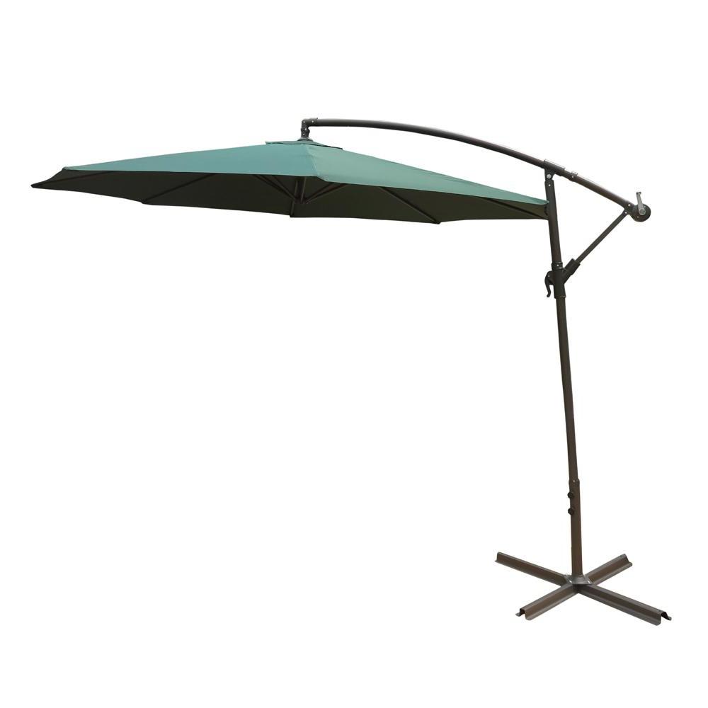 2019 Jericho Market Umbrellas Inside Solar Lighted – Patio Umbrellas – Patio Furniture – The Home Depot (View 7 of 20)