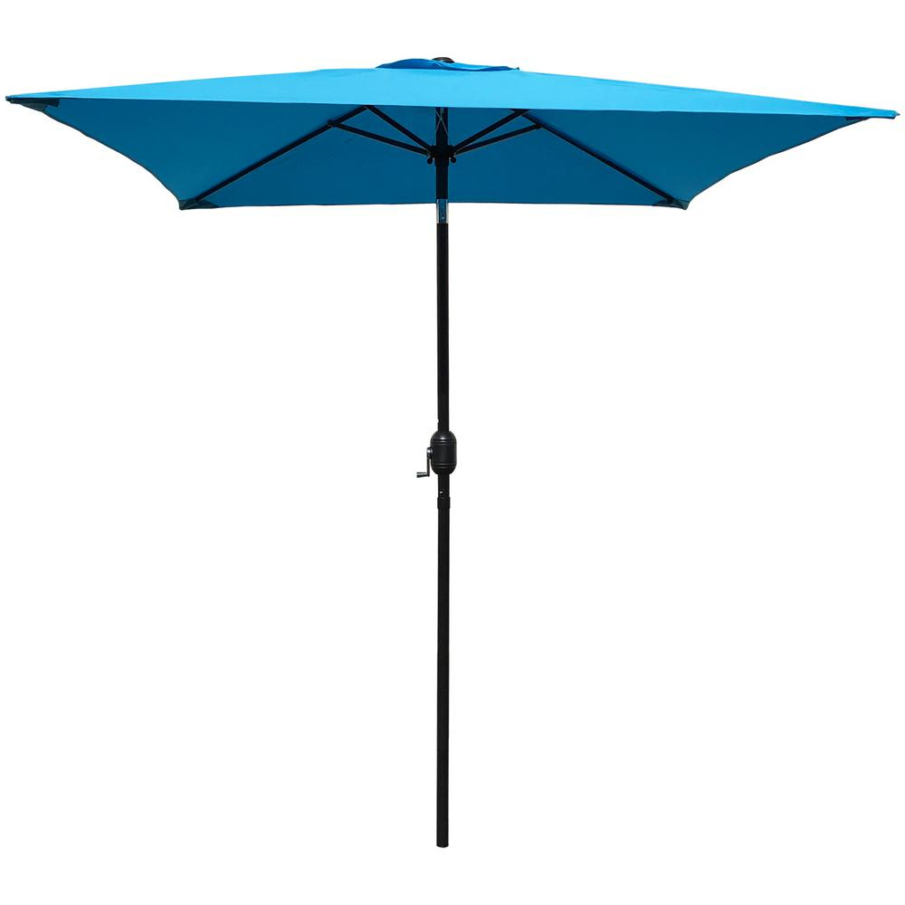2019 Maypex 6.5 Ft. Steel Crank And Tilt Square Market Patio Umbrella In Aqua Regarding Destination Gear Square Market Umbrellas (Gallery 17 of 20)