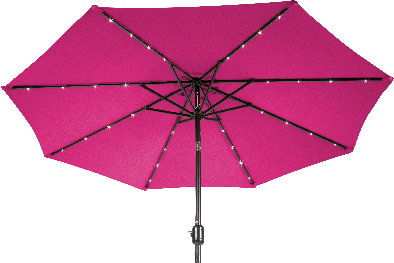 2019 Mercury Row Woll 9' Lighted Market Umbrella With Woll Lighted Market Umbrellas (View 16 of 20)