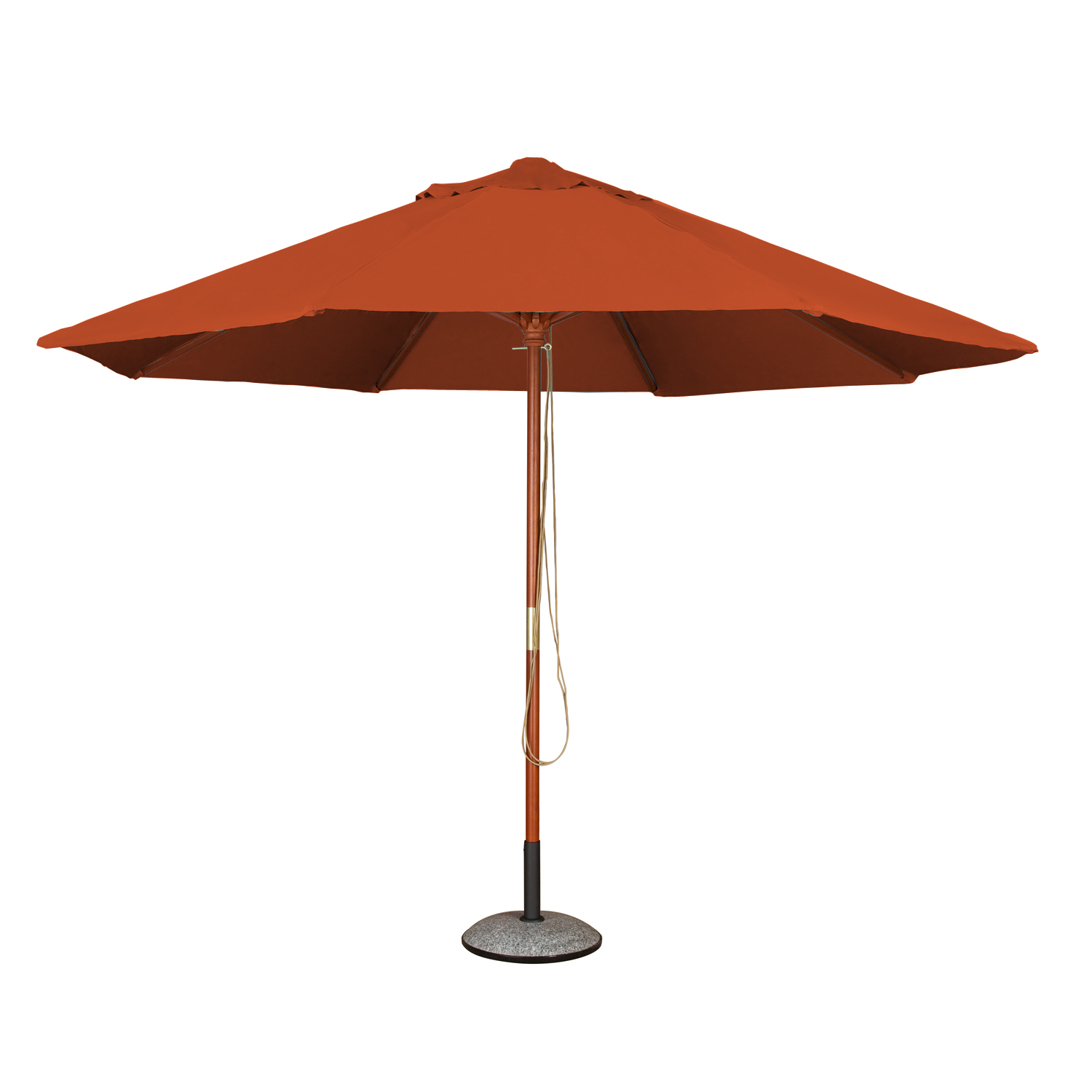 2019 Monty Market Umbrellas With Details About Garden Parasol (2m Terracotta) 6 Rib Patio Canopy Umbrella (View 11 of 20)