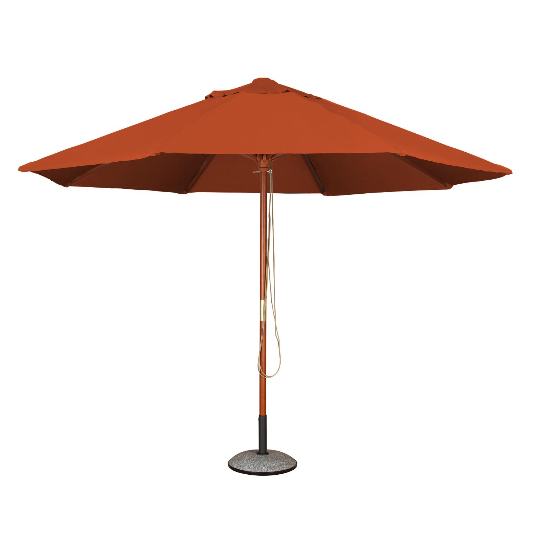 2019 Monty Market Umbrellas With Details About Garden Parasol (2M Terracotta) 6 Rib Patio Canopy Umbrella (Gallery 11 of 20)