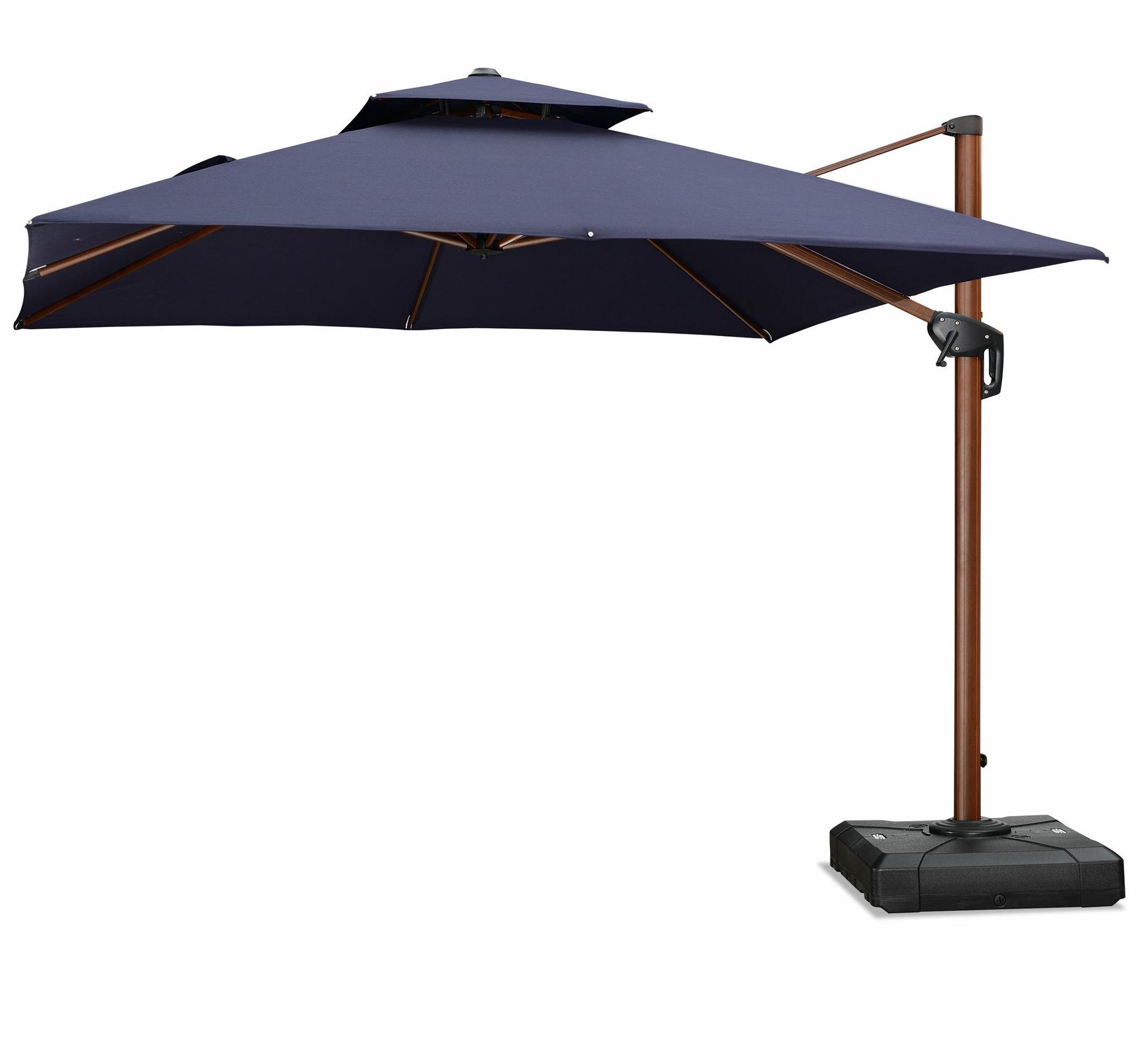 2019 Spitler Square Cantilever Umbrellas Regarding Waddell 10' Square Cantilever Umbrella (Gallery 7 of 20)