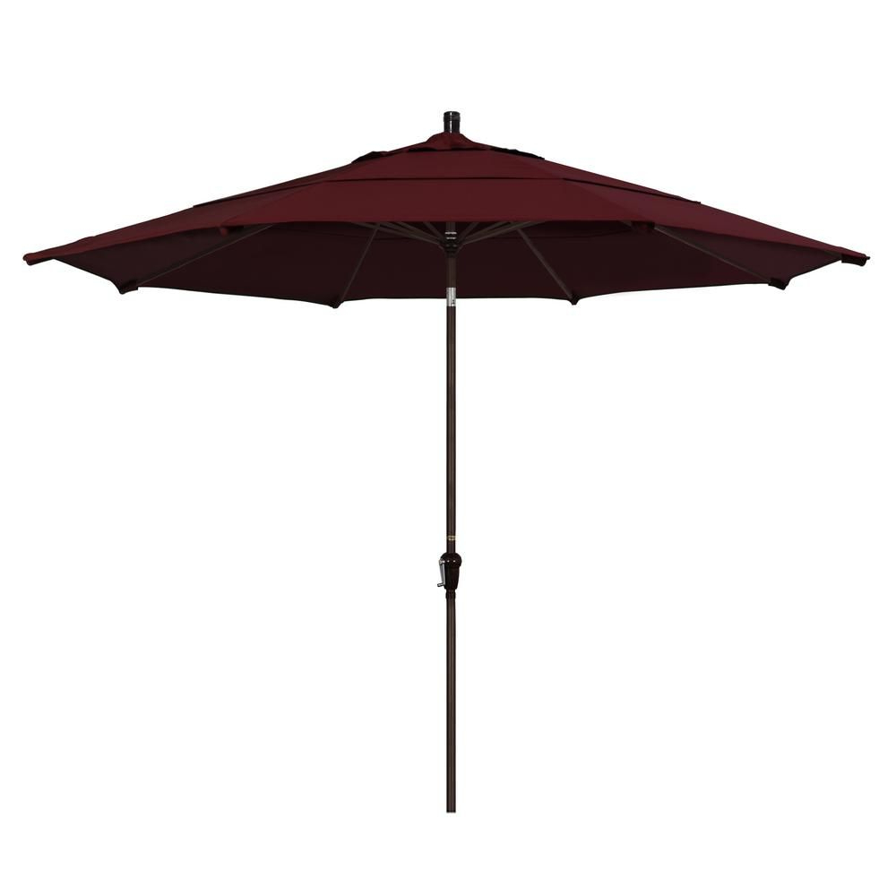 2019 Wiebe Market Sunbrella Umbrellas With California Umbrella 11 Ft. Bronze Aluminum Market Patio Umbrella (Gallery 16 of 20)