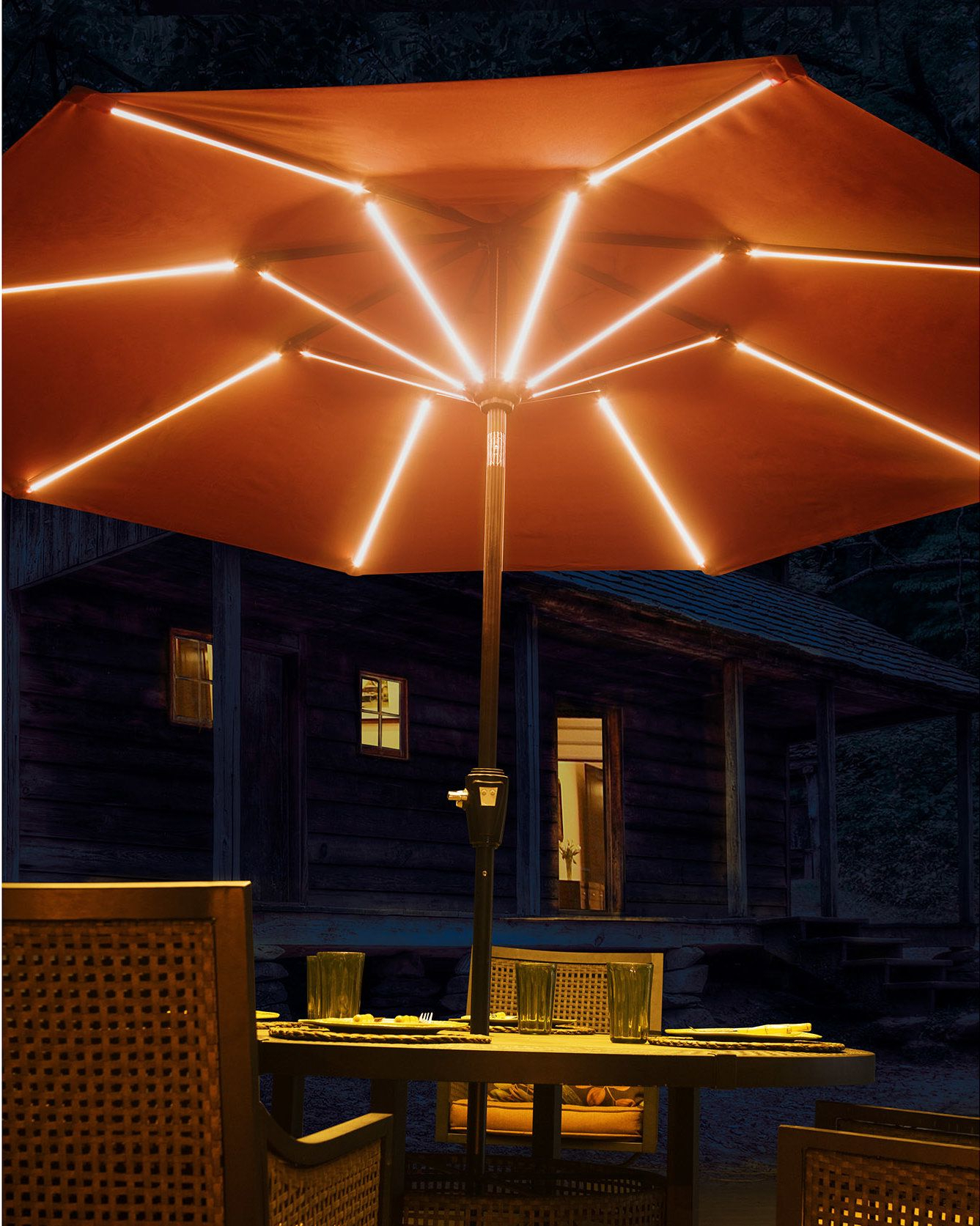 2020 Annabelle Market Umbrellas In 9' Llanes Illuminated Umbrella (View 2 of 20)