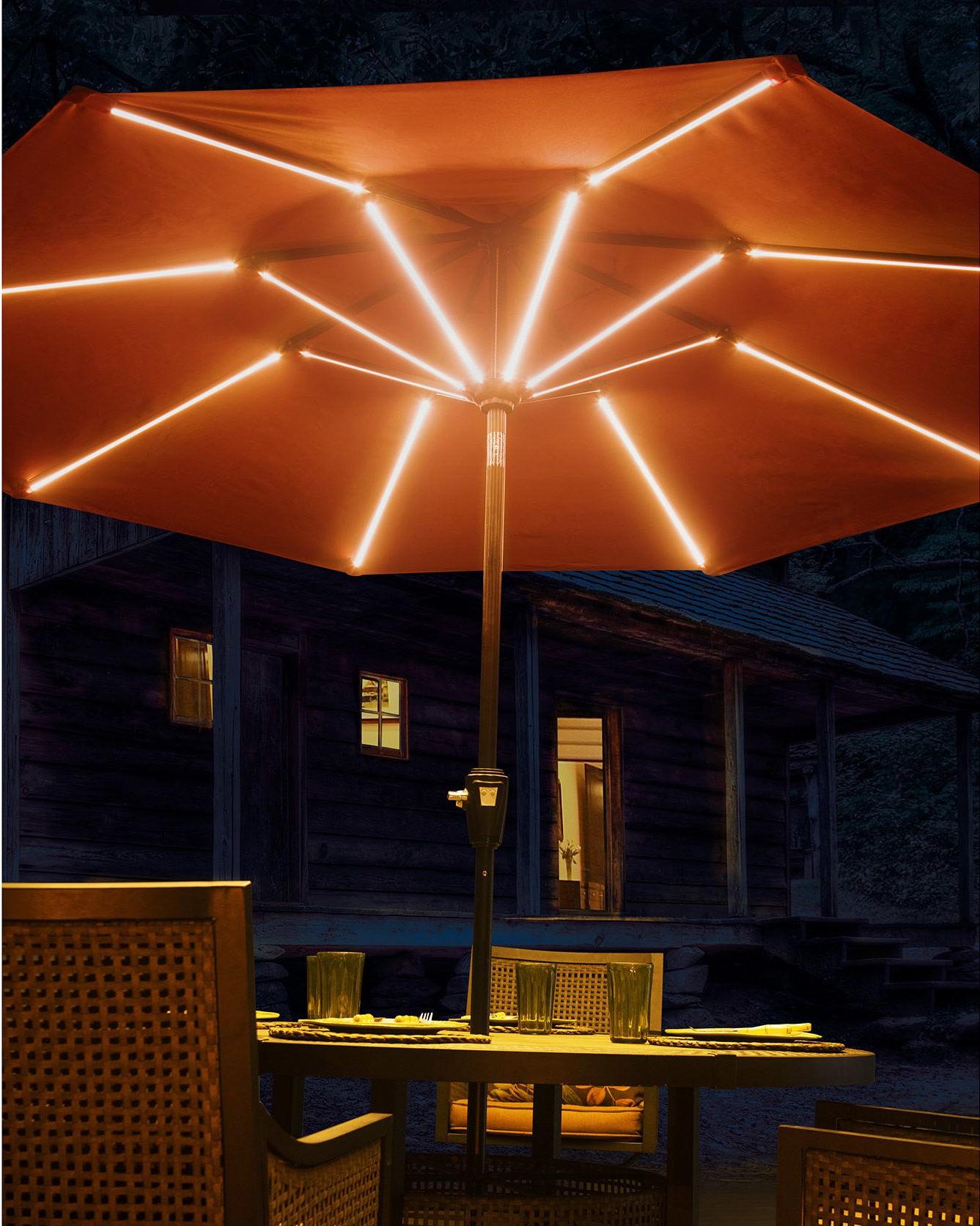 2020 Annabelle Market Umbrellas In 9' Llanes Illuminated Umbrella (View 2 of 20)