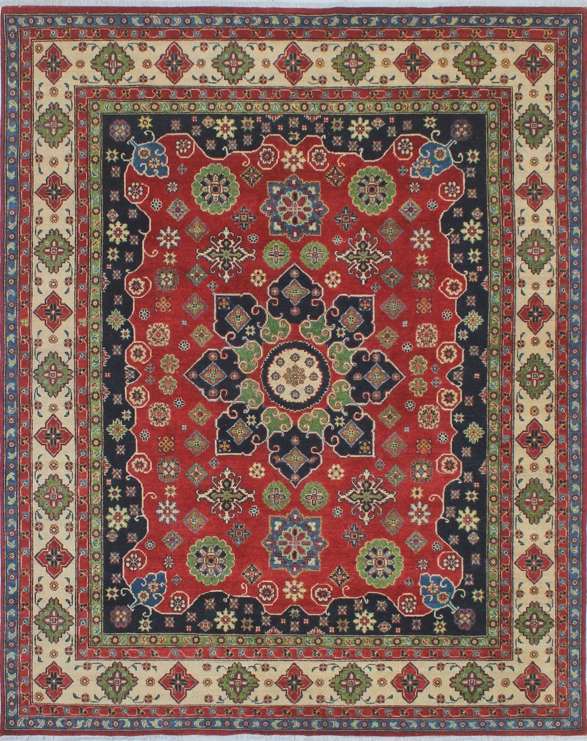 2020 Brubaker Market Umbrellas With Regard To One Of A Kind Brubaker Kazak Hand Knotted Wool Red Area Rug (Gallery 15 of 20)