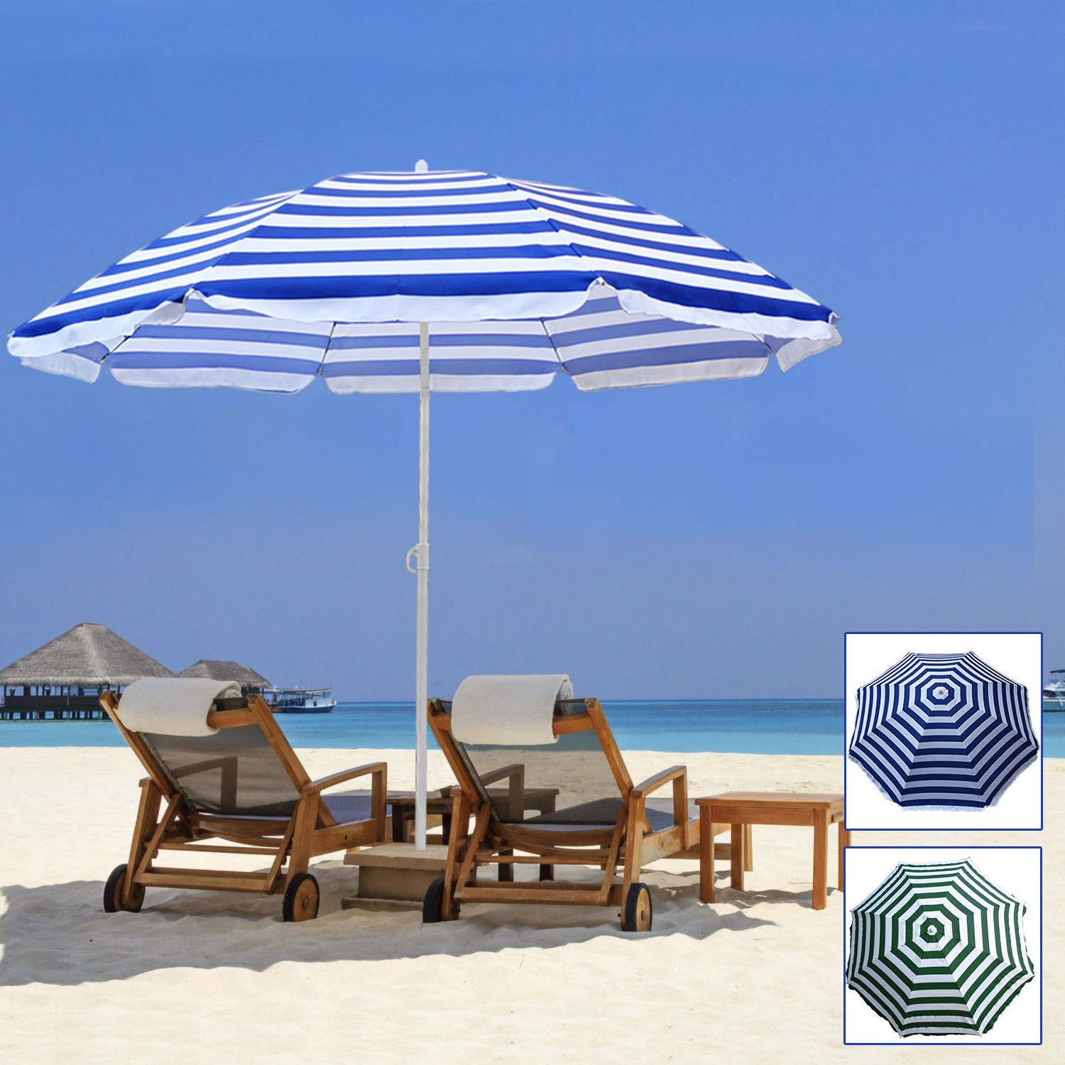 2020 Details About Beach Parasol Outdoor Garden Beach Patio Tilt Umbrella Parasol Sun Shade Tilting Throughout Tilt Beach Umbrellas (Gallery 9 of 20)