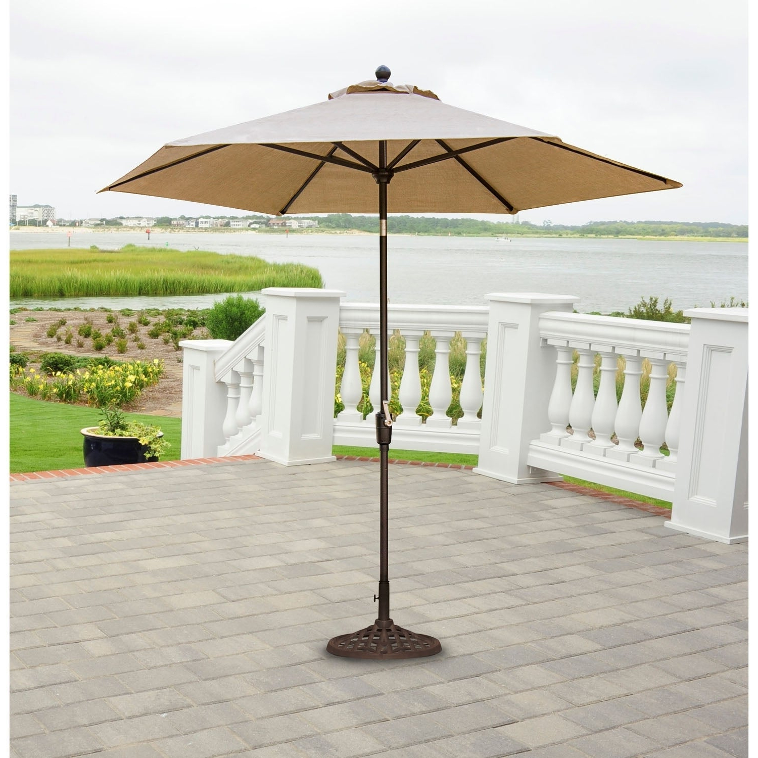 2020 Hanover Outdoor Tradumb 11 Traditions 11 Foot Market Umbrella Inside Julian Market Sunbrella Umbrellas (View 11 of 20)