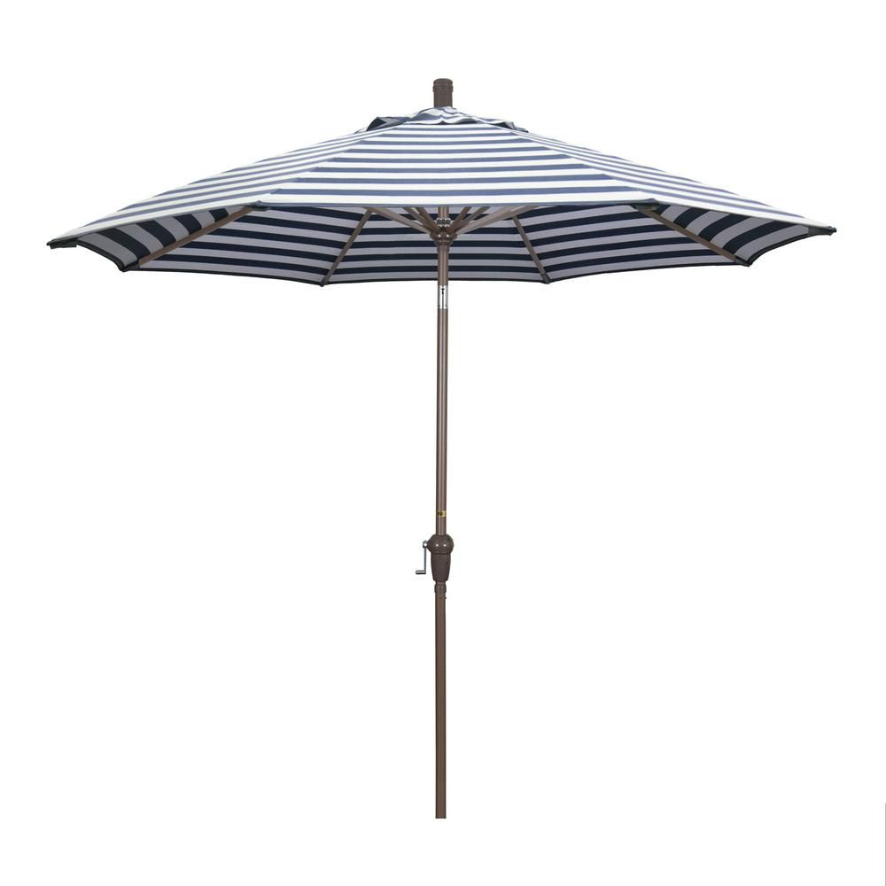 2020 Mullaney Market Sunbrella Umbrellas With Regard To California Umbrella 9 Ft. Aluminum Market Auto Tilt Champagne Patio (Gallery 12 of 20)