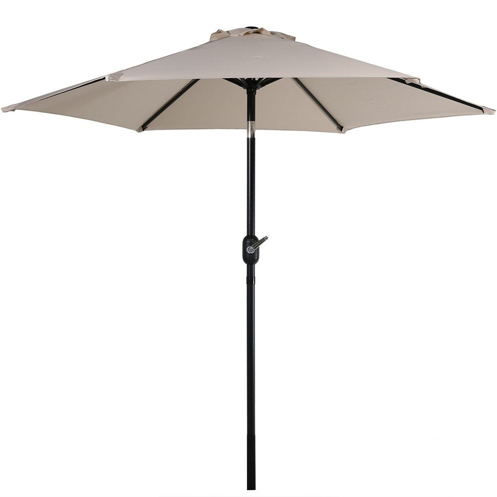 2020 Sunnydaze Patio Market Umbrella W/ Tilt & Crank (View 11 of 20)