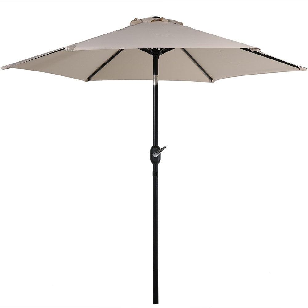 2020 Sunnydaze Patio Market Umbrella W/ Tilt & Crank  (View 1 of 20)