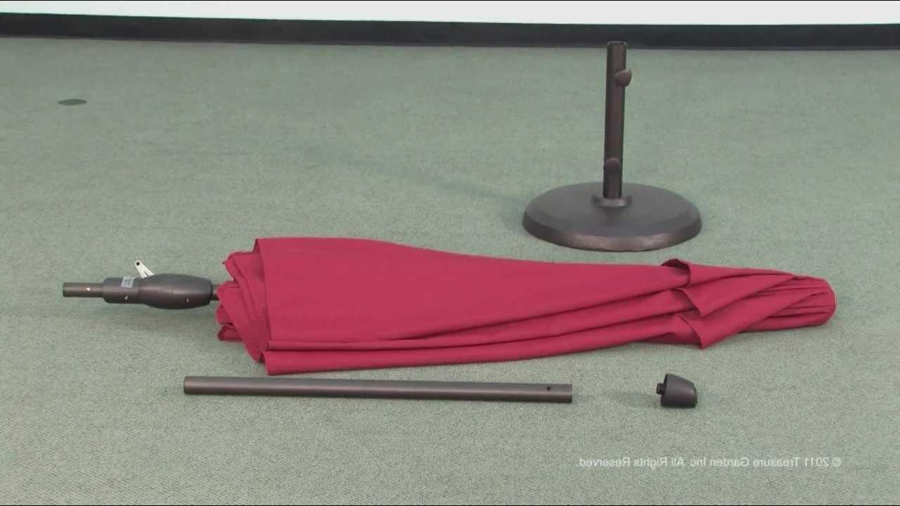2020 Wieczorek Auto Tilt Rectangular Market Sunbrella Umbrellas With Auto Tilt Market Umbrella (View 18 of 20)