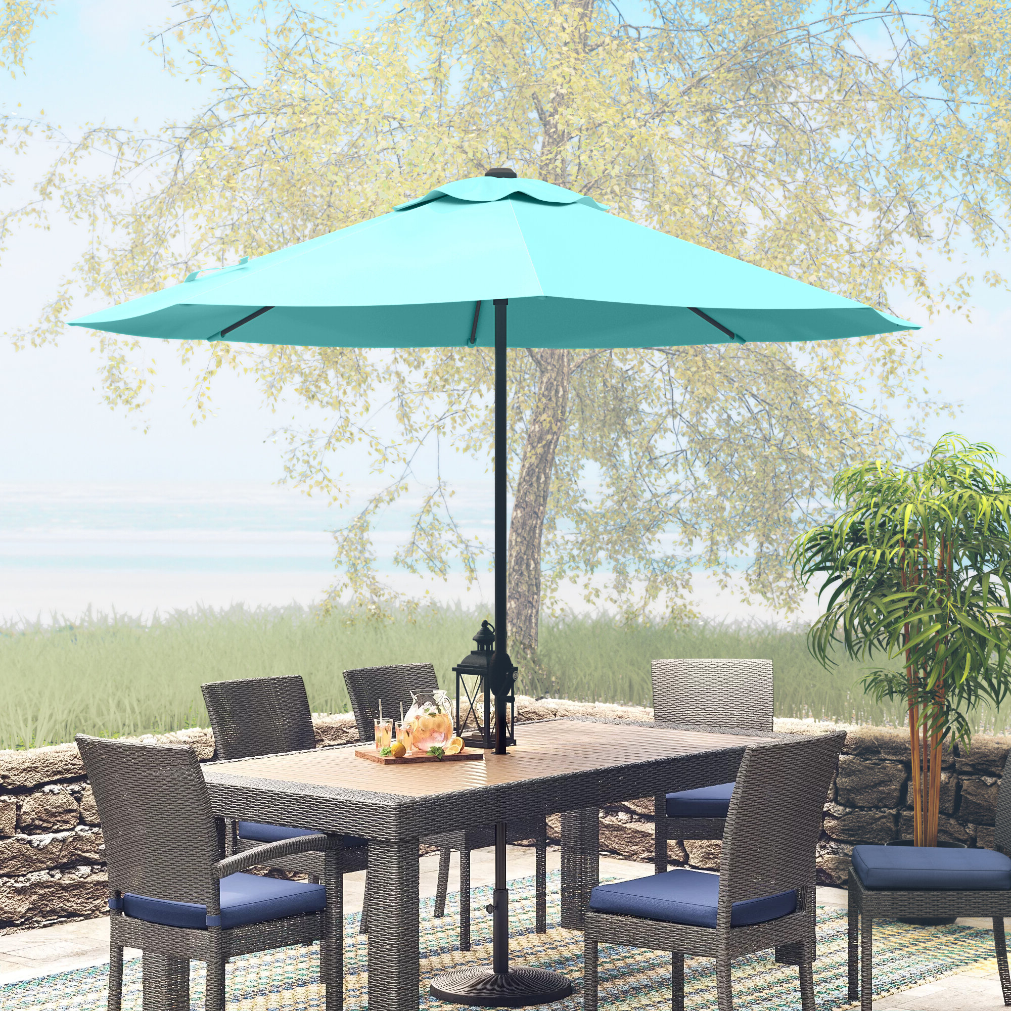 2020 Winchester 9' Market Umbrella In Winchester Zipcode Design Market Umbrellas (View 3 of 20)
