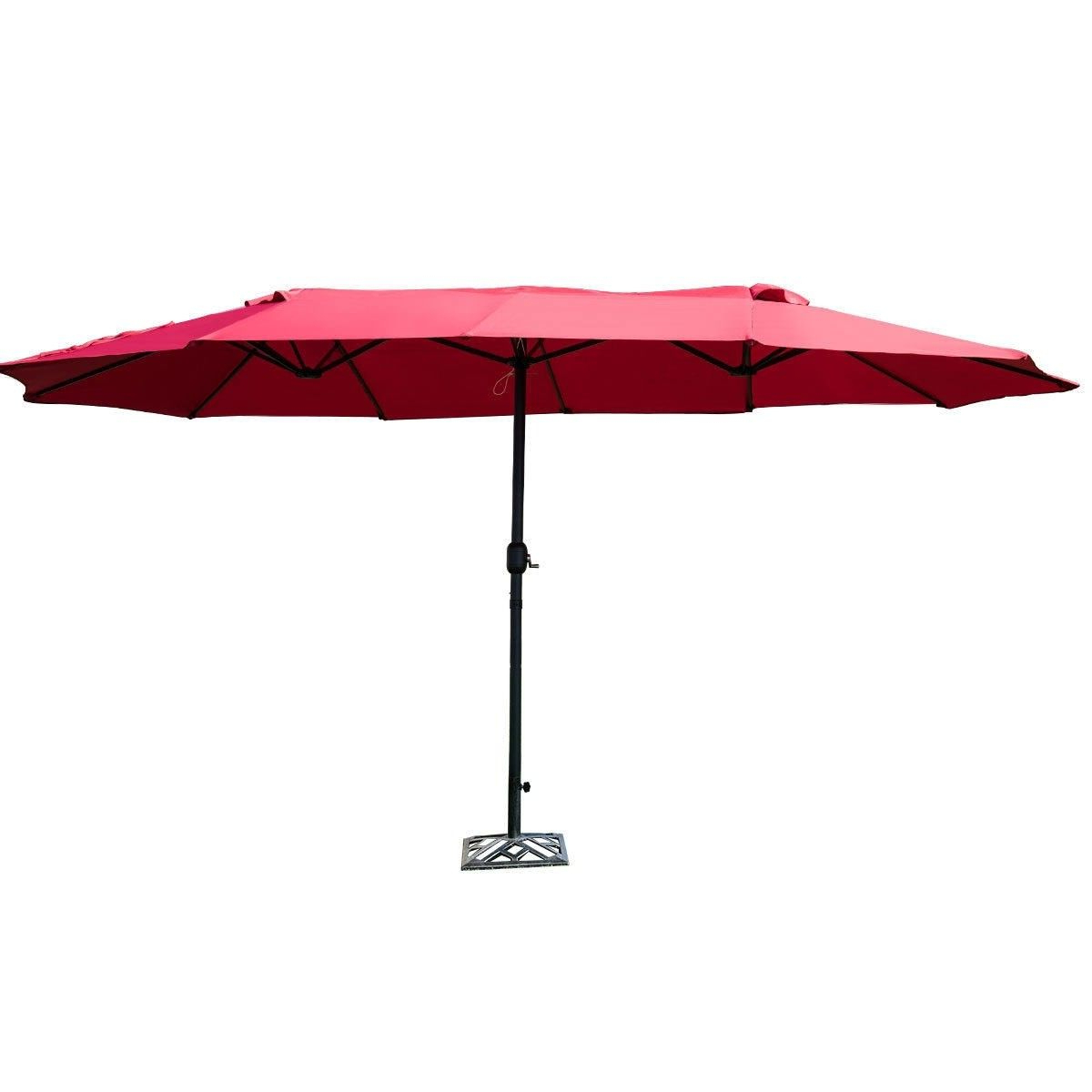 2020 Yajaira Cantilever Umbrellas In 15' Market Outdoor Umbrella Double Sided Twin Umbrella With Crank (View 12 of 20)